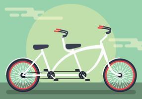 tandem fiets vector