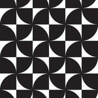zwart-wit hypnotische achtergrond abstract naadloos patroon vector