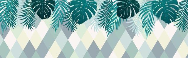 prachtige palmboom blad silhouet achtergrond vector