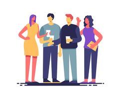 Partijen en Bijeenkomsten Illustratie vector
