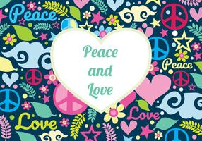 Vrede en liefde achtergrond vector