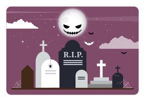 Vector Halloween-achtergrondillustratie