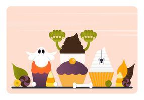 Vector Halloween-elementen en accessoires