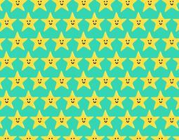 gelukkig ster naadloos patroon
