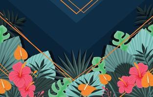 tropische bloemen gelaagdheid achtergrond vector