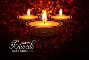 Creatieve Diwali-festival decoratieve sjabloon achtergrond