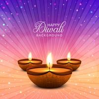 Elegante glanzende gelukkige diwali festival achtergrond