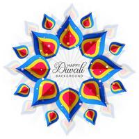 Diwali colorfu kaart decorativel achtergrond Vector