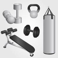 Realistische fitnessapparatuur Vector Pack