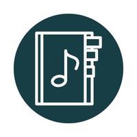 muziek bladwijzer geluidsblok stijlicoon vector
