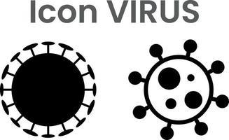 icon pack van parasiet of virus of bacteriën of micro-organisme vector