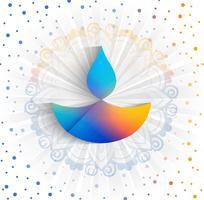 Gelukkige diwali diya olielamp festival kleurrijke kaart achtergrond