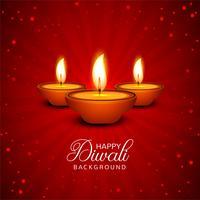Achtergrond van de de olielamp van viering de Gelukkige Diwali decoratieve