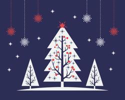 Mid-eeuwse kerstboom Bakcground