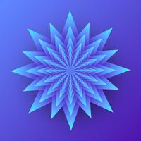 3D geometrische bloem gelaagd papier Art vector