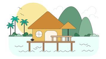bungalow vector