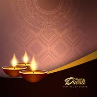 Abstracte gelukkige Diwali decoratieve achtergrond vector