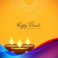 Abstracte stijlvolle Happy Diwali decoratieve achtergrond vector