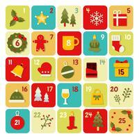 Advent Kalender Sjabloon Vector