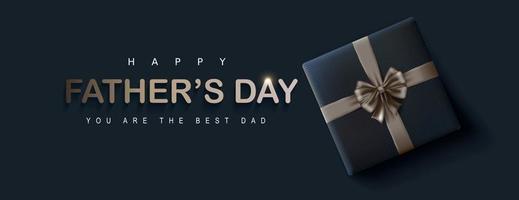 gelukkige vaders dag banner achtergrond vector