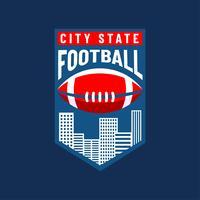 Amerikaans voetbal logo stad team vector