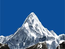 berglandschap eerste persoon vector