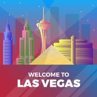 Platte Las Vegas skyline vectorillustratie