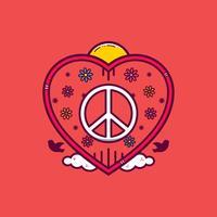 Vrede en liefde Vector