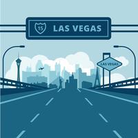 Las Vegas vectorillustratie vector