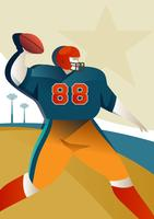 Voetbal speler illustratie vector