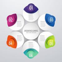 Abstracte creatieve infographic achtergrond vector