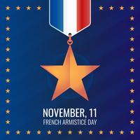 Franse ster beloning wapenstilstand dagviering vector
