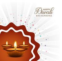 Mooie gelukkige diwali diya olielamp festival decoratieve backgro