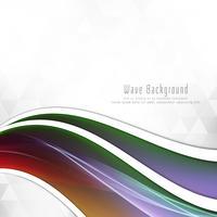 Abstracte kleurrijke golf elegante achtergrond vector
