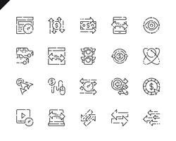 Eenvoudige set verkeerslijn pictogrammen voor website en mobiele apps. vector