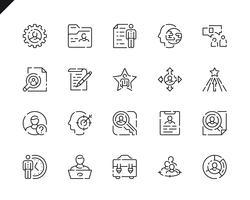 Eenvoudige set hoofd jacht lijn pictogrammen voor website en mobiele apps. vector