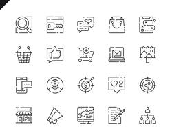 Simple Set Marketing Line Icons voor Website en Mobiele Apps. vector