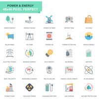 Eenvoudige reeks machtsindustrie en energie vlakke pictogrammen voor website en mobiele apps