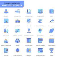 Eenvoudige Set Onderwijs en Kennis Vlakke Pictogrammen voor Website en Mobiele Apps