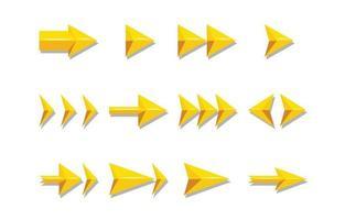 pijl element icon set vector