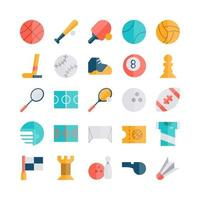 sport icon set vector plat voor website mobiele app presentatie sociale media geschikt voor gebruikersinterface en gebruikerservaring