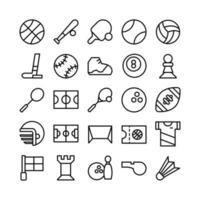 sport icon set vector lijn voor website mobiele app presentatie sociale media geschikt voor gebruikersinterface en gebruikerservaring