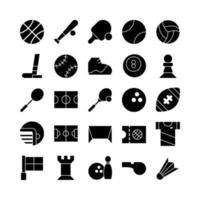sport icon set vector solide voor website mobiele app presentatie sociale media geschikt voor gebruikersinterface en gebruikerservaring