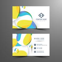 Sjabloon voor abstract kleurrijke moderne visitekaartjes vector