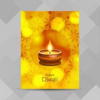 Abstract Happy Diwali-festivalbrochureontwerp vector