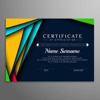 Abstracte moderne certificaatachtergrond