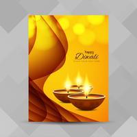 Abstracte Happy Diwali brochure ontwerpsjabloon vector
