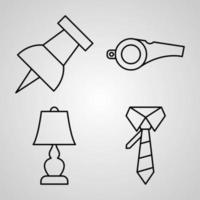 onderwijs en leren pictogrammenset vector illustratie eps