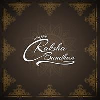 Abstracte gelukkige Raksha bandhan stijlvolle tekst ontwerp achtergrond vector