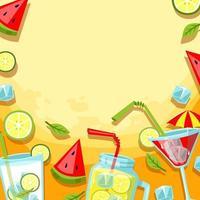 geniet van zomerse drankjes vector